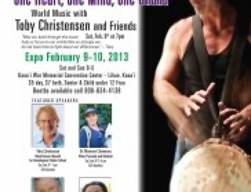 The Healing Drummer at the Kauai Wellness Expo February 9 & 10